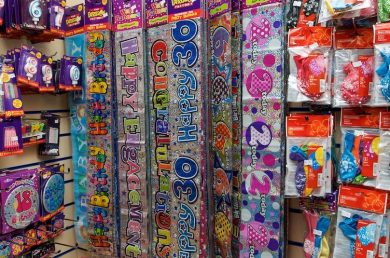 Party Decorations, Banners, Candles, Balloons, party hats, Chapel Allerton, Roundhay, Leeds, sparklers, napkins