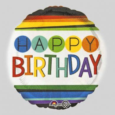 Rainbow Birthday Balloon Happy Birthday