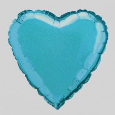 Baby Blue Heart Helium Balloon
