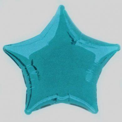Baby Blue Star Helium Balloon