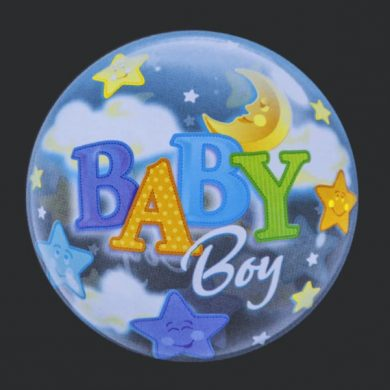 Baby Boy - Clear Bubble Helium Balloons