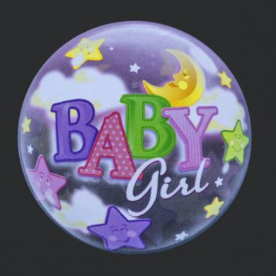 Baby Girl - Clear Bubble Helium Balloons