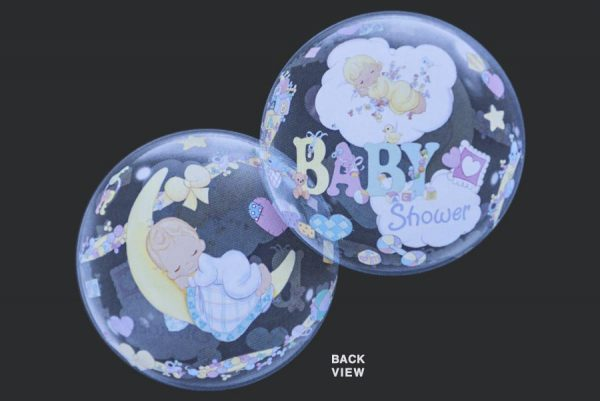 Baby Shower - Clear Bubble Helium Balloons