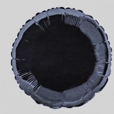 Black Circle Helium Balloon