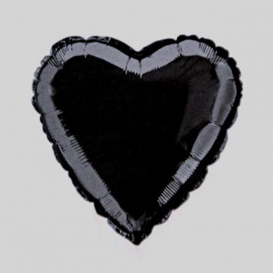 Black Heart Helium Balloon