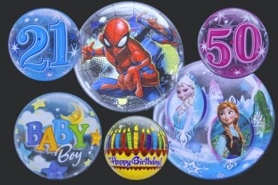Clear Bubble Helium Balloons