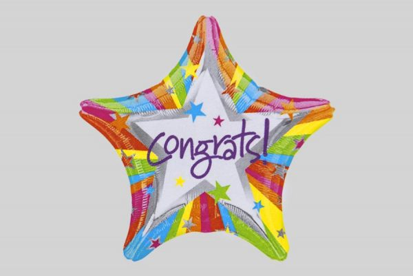 Congrats Star Helium Balloons