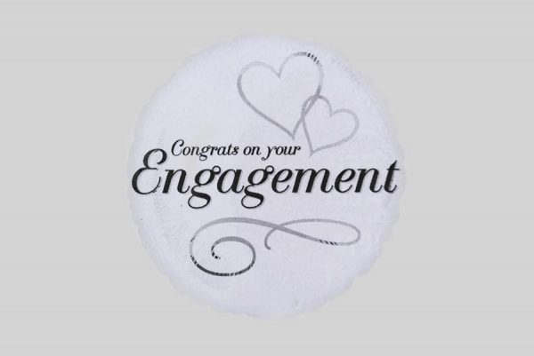 Congrats on your Engagement Helium Balloon