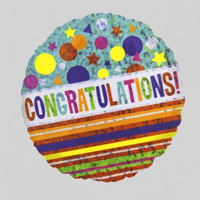 Congratulations Circle Helium Balloons