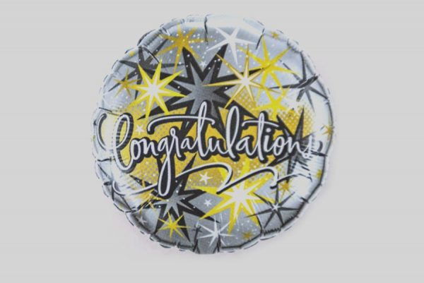 Congratulations fireworks Helium Balloons