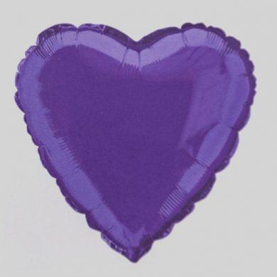 Deep Purple Heart Helium Balloon