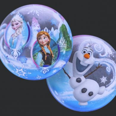Frozen - Clear Bubble Helium Balloons