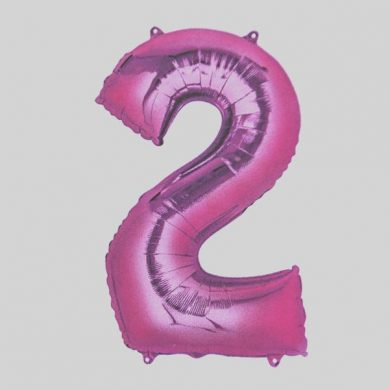 Giant Pink Number 2 Balloon
