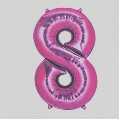 Giant Pink Number 8 Balloon