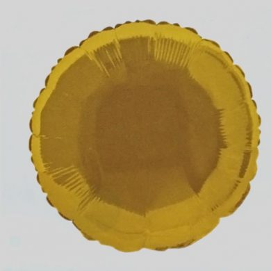 Gold Circle Helium Balloon