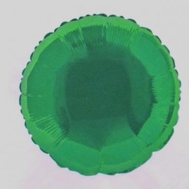 Green Circle Helium Balloon