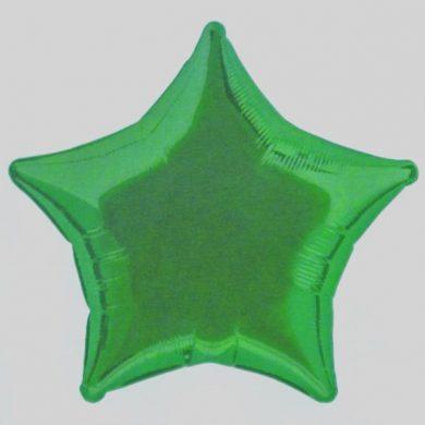Green Star Helium Balloon