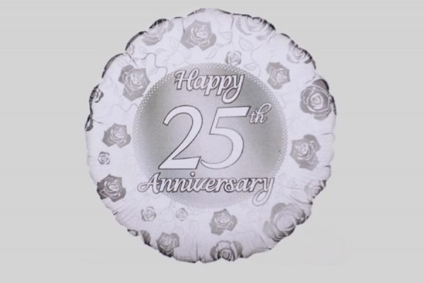 Happy 25th Anniversary Helium Balloon