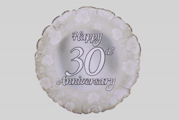 Happy 30th Anniversary Helium Balloon