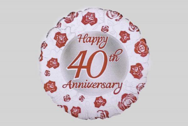 Happy 40th Anniversary Helium Balloon