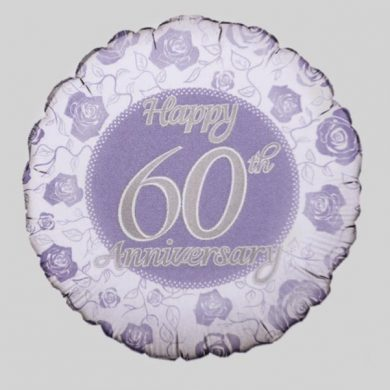 Happy 60th Anniversary Helium Balloon