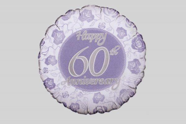 Happy 60th Anniversary Helium Balloon