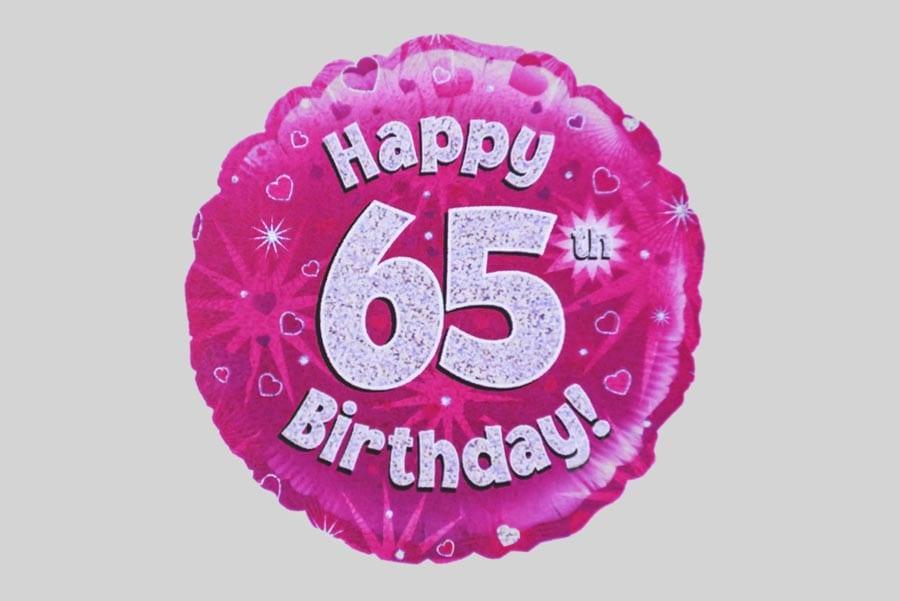 Happy 65th Birthday Balloon