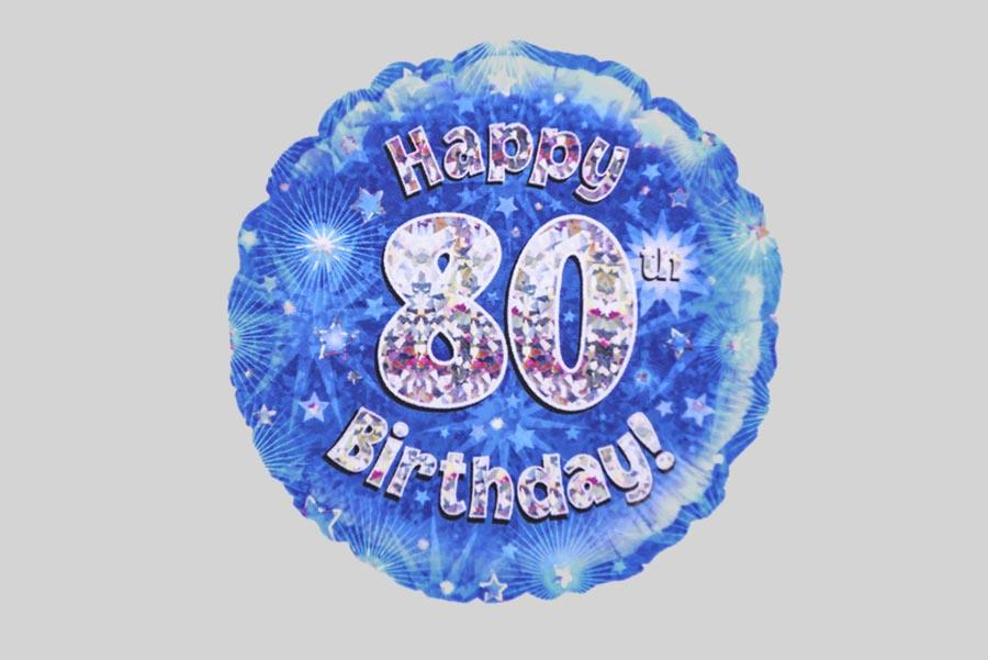 900 X 601 In Happy 80th Birthday Balloon