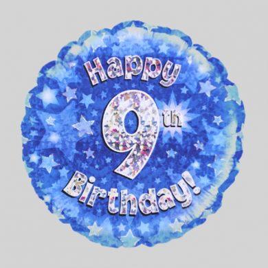 Happy 9th Birthday Helium Balloon