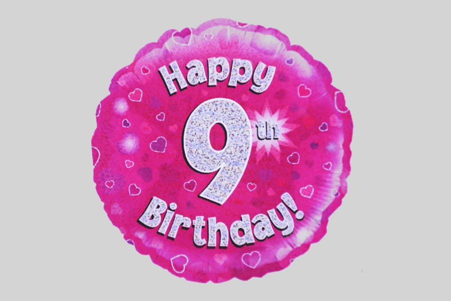 Happy 9th Birthday Balloon