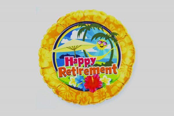 Happy Retirement beach Helium Balloons