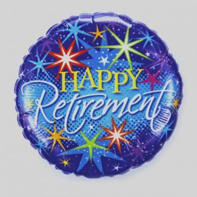 Happy Retirement fireworks Helium Balloons