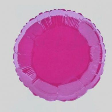 Hot Pink Circle Helium Balloon