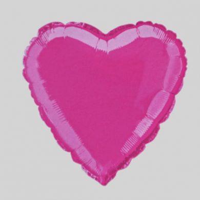Hot Pink Heart Helium Balloon