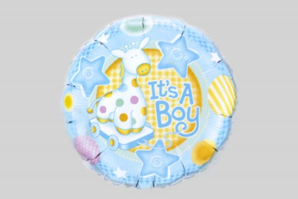 Its a boy giraffe baby Helium Balloons