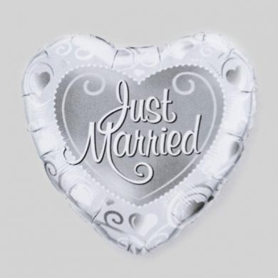 Just Married Helium Balloon
