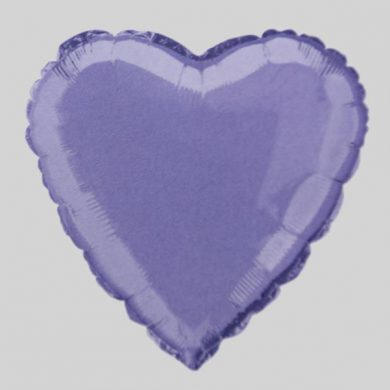 Lavender Heart Helium Balloon