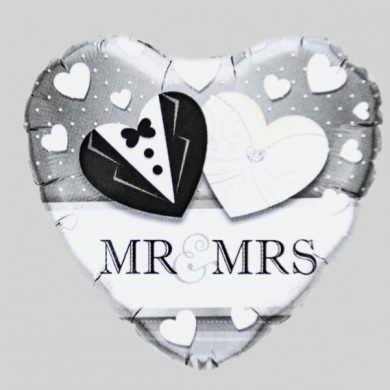 Mr and Mrs heart Helium Balloon