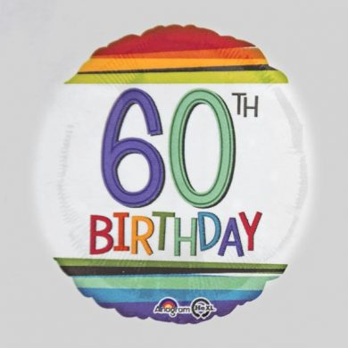 Rainbow Birthday Balloon number 60