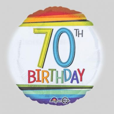 Rainbow Birthday Balloon number 70