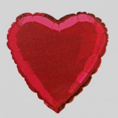 Red Heart Helium Balloon