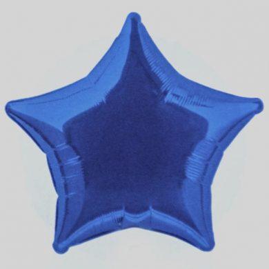 Royal Blue Star - Helium Balloon - Shape Balloon - 18 inch