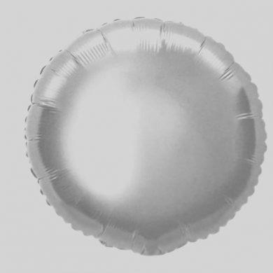 Silver Circle - Helium Balloon - Shape Balloon - 18 inch
