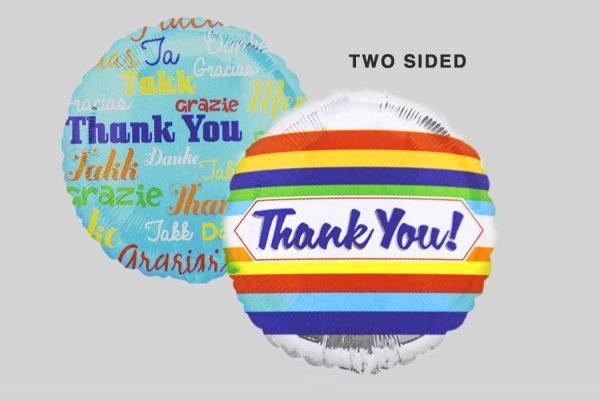 Thank You Languages-STRIPES Helium Balloons