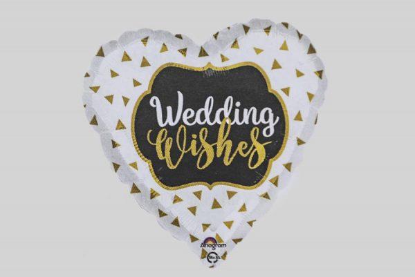 Wedding Wishes Helium Balloon