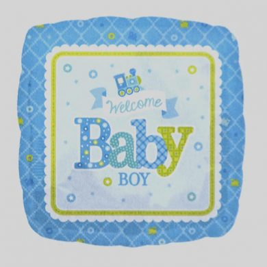 Welcome Baby Boy Blue Helium Balloons