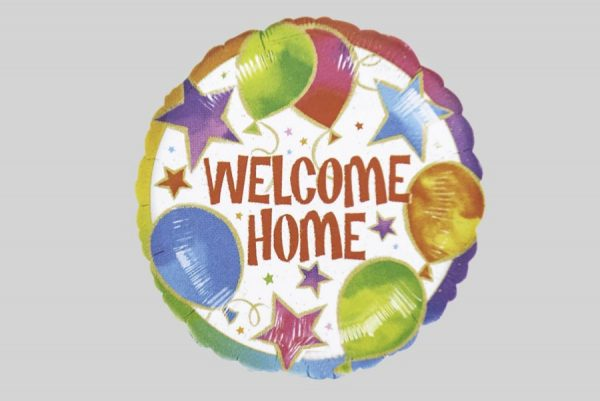 Welcome Home Circle Helium Balloons