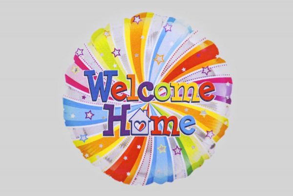 Welcome Home Colourful Helium Balloons