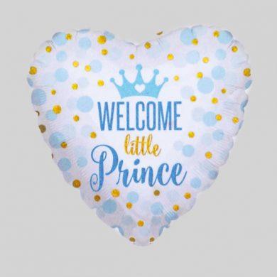 Welcome little prince baby Helium Balloons
