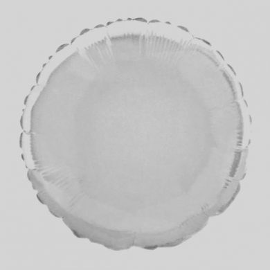 White Circle - Helium Balloon - Shape Balloon - 18 inch